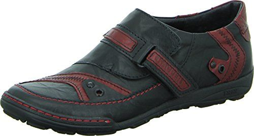 Kacper 1-4261 Halbschuh Herren Freizeit Slipper Echtleder Klettverschluss Farbe: Schwarz/ Rot - http://on-line-kaufen.de/kacper/45-eu-kacper-1-4261-halbschuh-herren-freizeit-rot