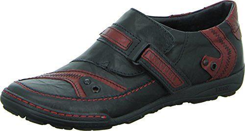 Kacper 1-4261 Halbschuh Herren Freizeit Slipper Echtleder Klettverschluss Farbe: Schwarz/ Rot - http://on-line-kaufen.de/kacper/kacper-1-4261-halbschuh-herren-freizeit-slipper