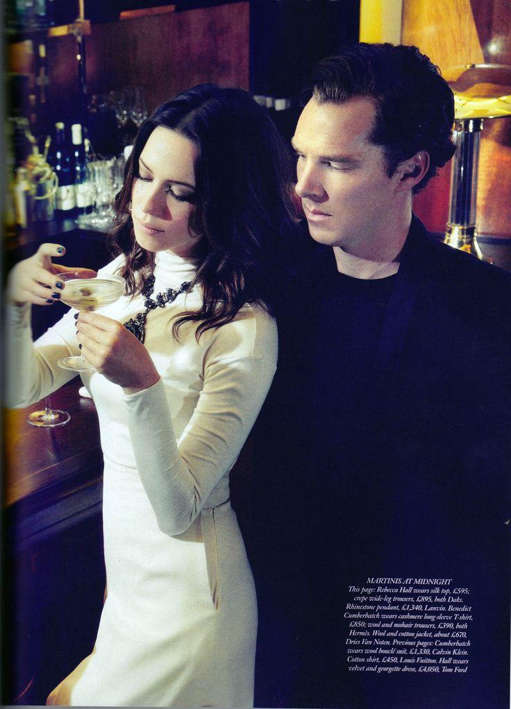 Parade's End: Benedict Cumberbatch and Rebecca Hall for Harper's Bazaar, October 2012.