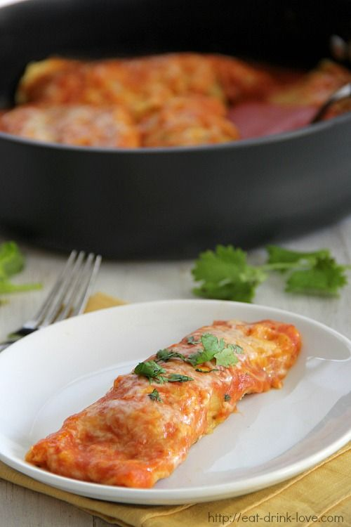 Stovetop Chicken Enchiladas - Eat. Drink. Love.