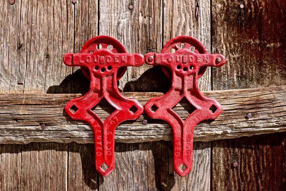 Fabulous Set Of Antique Barn Door Rollers By Louden Vintage Door Handles Collection Olytizonderlifede