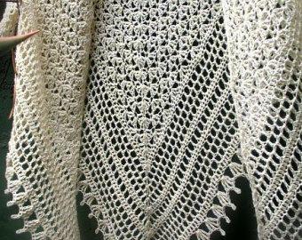 Direct Download PDF pattern crochet shawl Recuerdos de by 7Knits