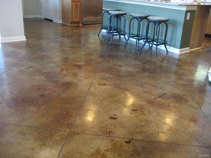 Elegant Staining Basement Floor