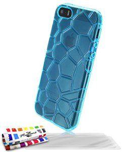 Coque Semi-Rigide Ultra-Slim APPLE IPHONE 5S / IPHONE SE [L'Arctique Premium] [Bleu lagon] de MUZZANO + 3 Films de protection écran «…