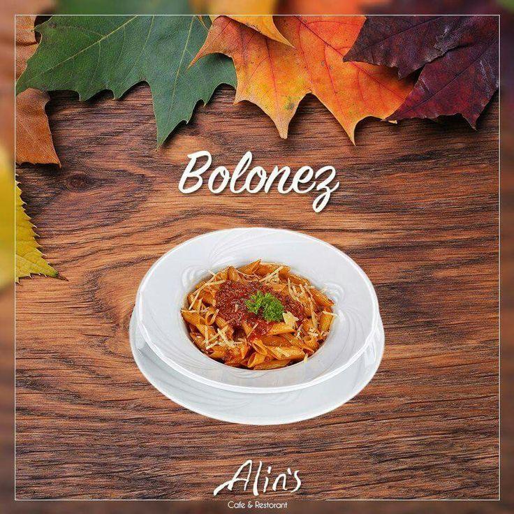 🌟Kıymalı bolonez sos ve bol parmesan peyniri ile, en çok tercih edilen lezzetlerimizden #Alins Bolonez günün önerisi.🍽