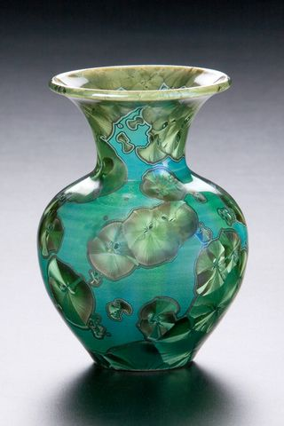 McCanless Pottery. Pot with Crystalline special effects glaze.
