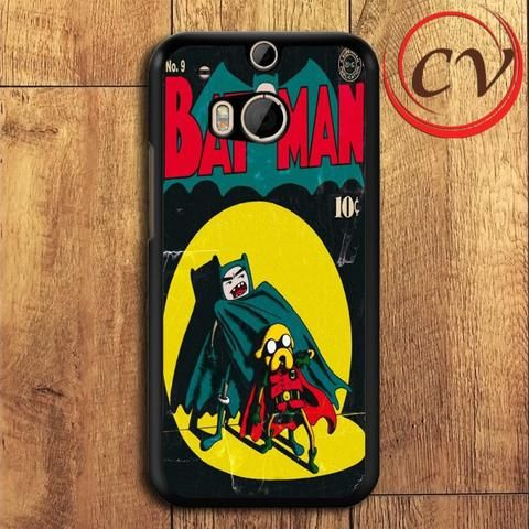 Adventure Time Batman HTC One M8 Mini Black Case