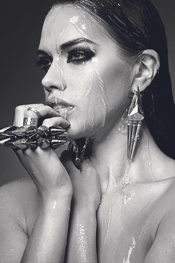 Urban Decay Waterproof. Urban decay urbandecay wet water model drenched soaked beautiful bw blackwhite black white jewellery waterproof makeup