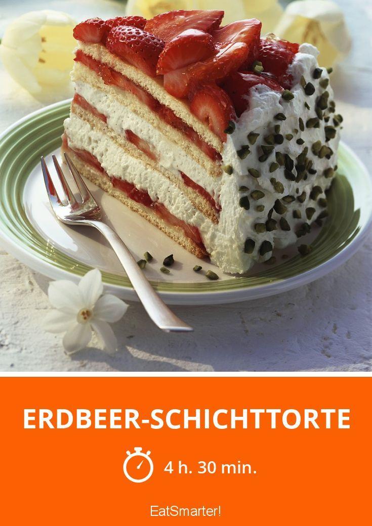 erdbeer schichttorte recipe erdbeerkuchen torten pinterest kuchen and cake