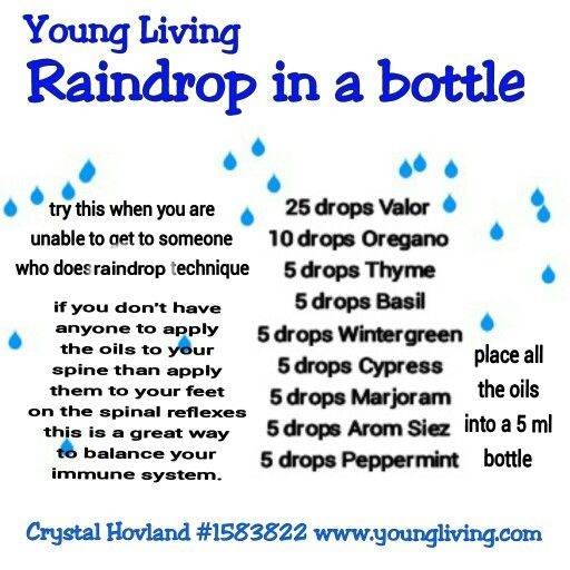 Young living Raindrop technique in a bottle  www.youngliving.com/signup/?sponsorid=1462769enrollerid=1462769