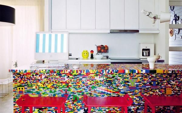 Lego island bench.... feature wall idea?