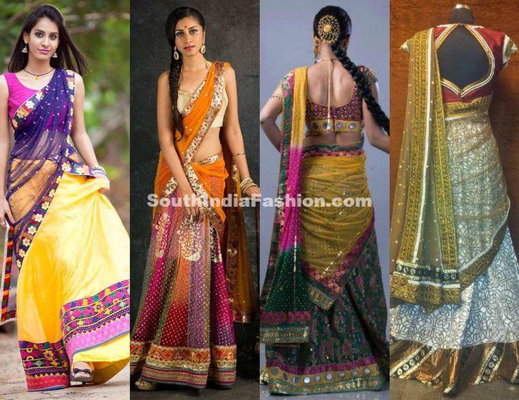 Designer Half Sarees by Bhargavi Kunam ~ Celebrity Sarees, Designer Sarees, Bridal Sarees, Latest Blouse Designs 2014