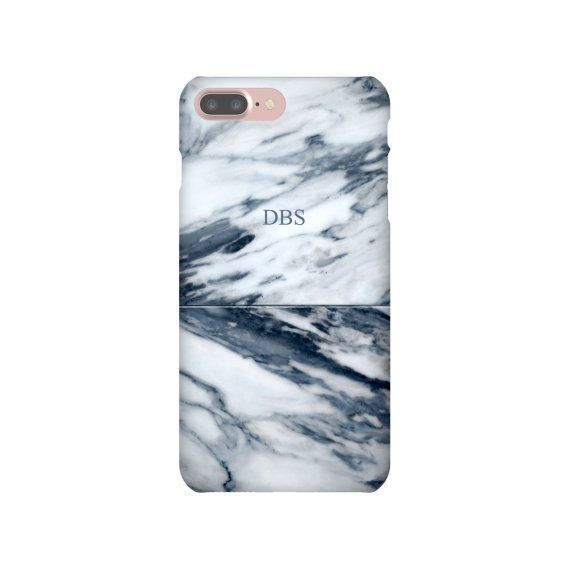 iPhone 6 6s 7 Plus SE Slim Snap Case Navy Blue Marble Phone Samsung Galaxy S7 Edge Personalized Gift Custom