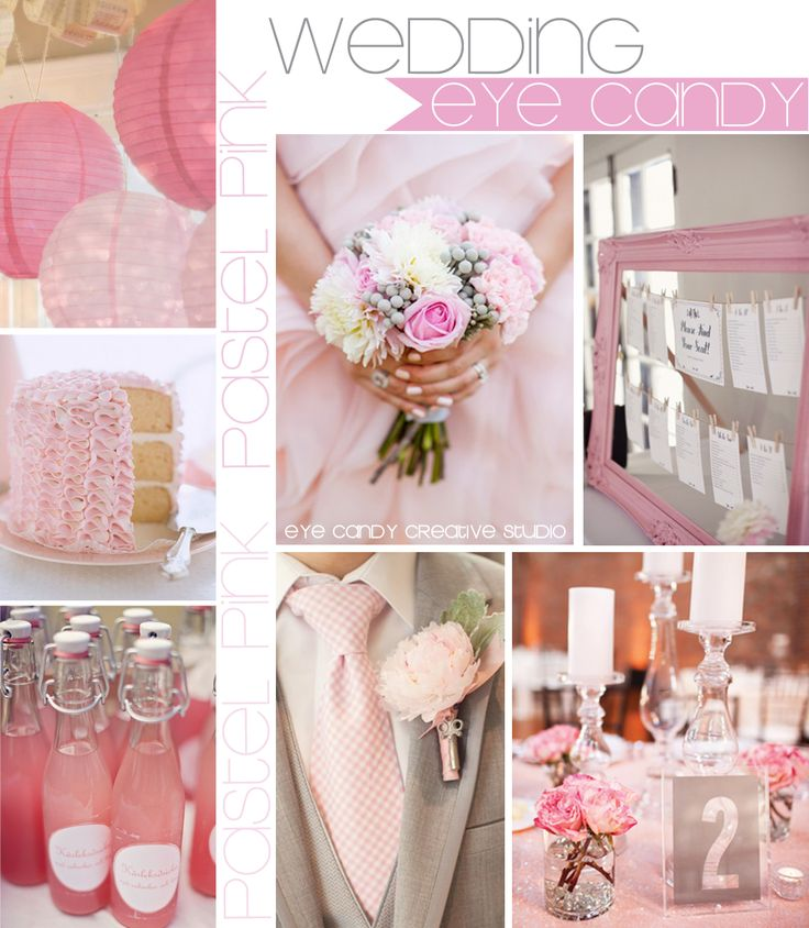 WEDDING -PASTEL PINK wedding inspiration board @eyecandycreate #pinkwedding #pinkpartydecor