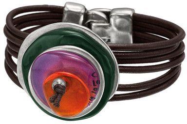 Uno de 50 Land Ho! Stacked Multi-Strand Leather Bracelet