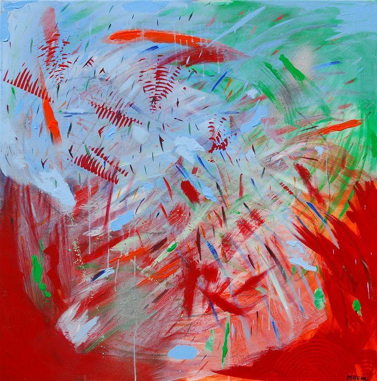 FERTILIDAD UNO  100 x 100 cm Acrílico sobre tela   2012 (vendido)