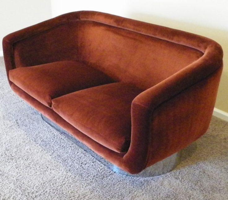 Steel Base Sofa | Leon Rosen for Pace | 1970s