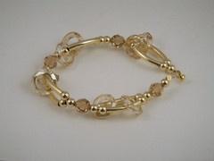 Topaz and Jonquil Crystal Bracelet