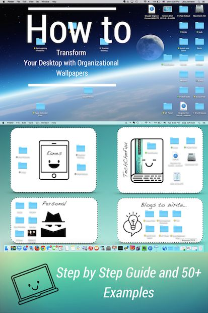 Use CANVA to TRANSFORM YOUR DESKTOP with Organized Wallpapers and Achieve Productivity Zen (includes step by step guide and 50+ examples)