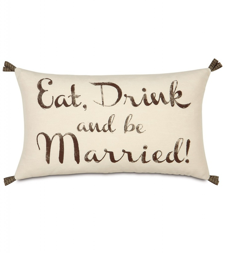 "Keep the celebration going long after you've said ""I do"". With so many ways to personalize, the Wedding collection makes the perfect keepsake for the newly minted Mister and Misses or a wonderfully romantic way to celebrate years of wedded bliss. This item makes for a great wedding or anniversary gift.Pillow features:Dimensions- 13 x 22Block printedSelf backedRibbon loops on cornersKnife edge finishingZipper closureDown pillow insertMade in the USADue to the handcrafted nature of this item…"