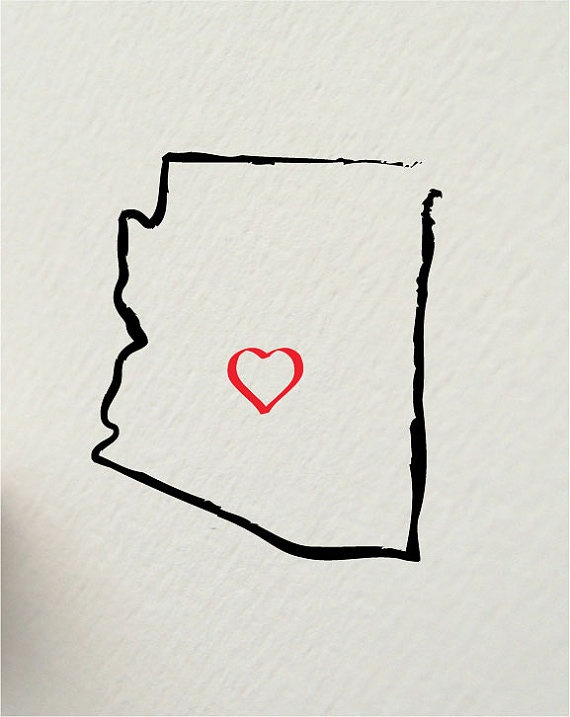 Move the heart a lil south to Tucson and it's perfect. I'll always be a little desert girl.