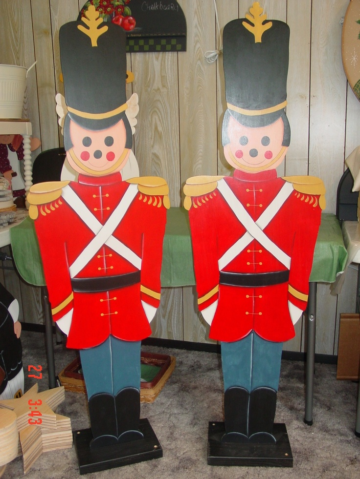 Outdoor Christmas Toy Soldiers