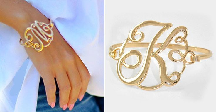This elegant bracelet makes a beautiful statement that can be styled and worn with any of your favorite outfits. A great piece to share as a thoughtful gift on any special occasion. Available in Silver or Gold with a meaningful monogram initial to feature everything that means the most to you.