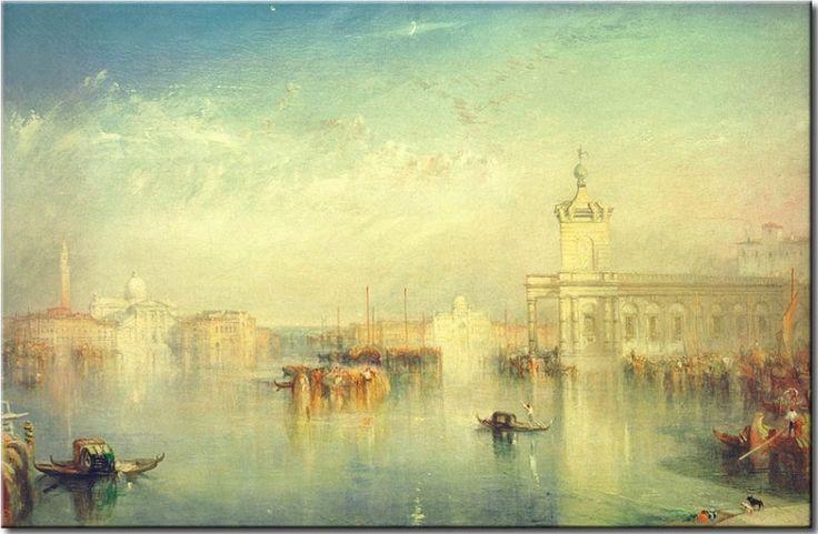 """William Turner """"Die Dogana, San Giorgio, Citella, von den Stufen der Europa"""". William Turner war ein englischer Maler, Aquarellist und Zeichner in der Epoche der Romantik. Entdecken Sie eines der bekanntesten Gemälde der Welt #turner #kunst #romantik"""