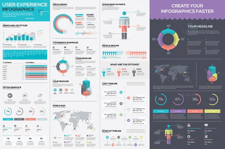 Infographic Template Vector Kit by Infographic Template Shop on Creative Market