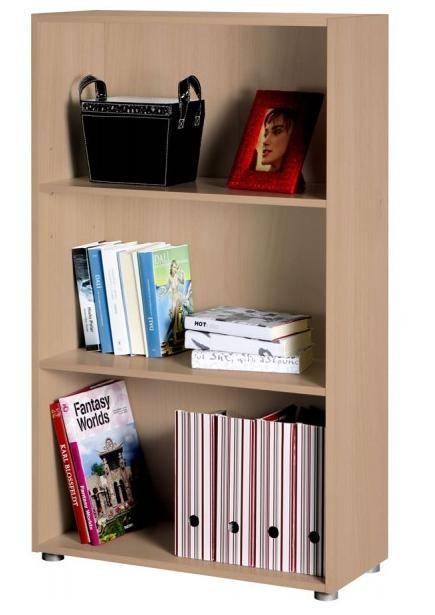 Libreria modulare componibile tre vani colore faggio  Art. CPSLB2885K10205    Libreria componibile a tre vani regolabili.  Mobile libreria con due ripiani, di cui quello superiore regolabile in altezza, grazie ai supporti presenti spostabili in più posizioni.  Il mobiletto economico, può essere utilizzato come base o piccola libreria da ufficio, nello studio professionale, nella zona di studio e in tutti gli arredamenti della tua casa.
