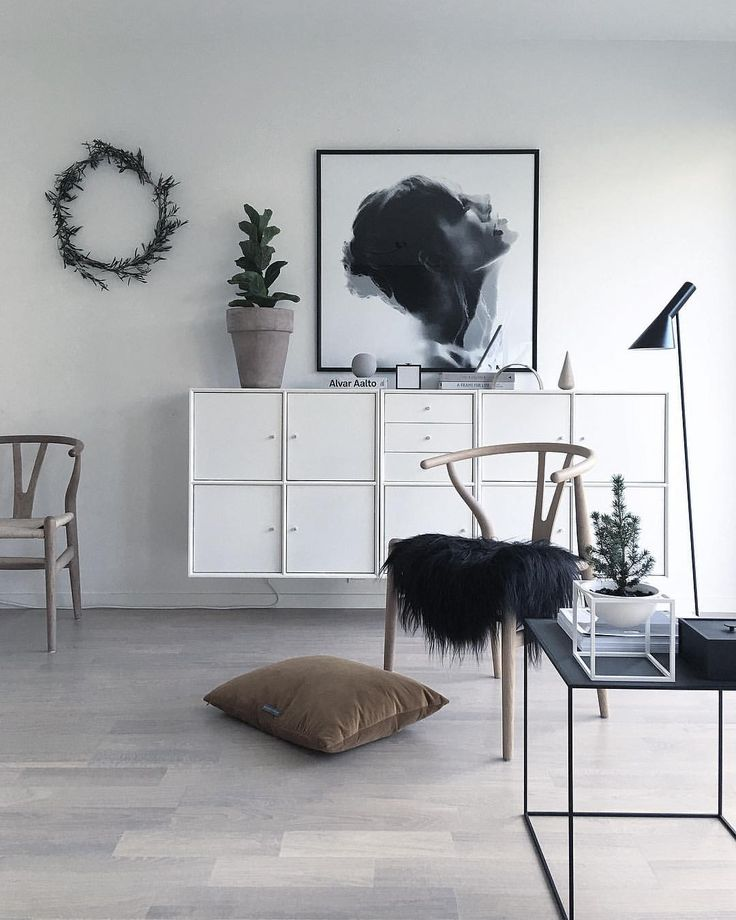 Wishbone chair with sheepskin - the perfect combination