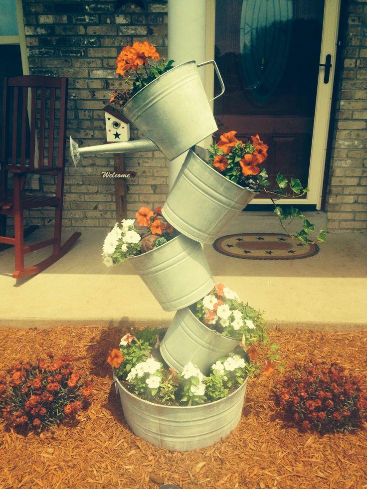 Best 25 Flower Pot Tower Ideas On Pinterest Rebar House