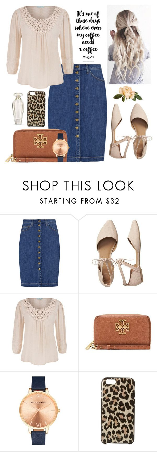 """""""Untitled #147"""" by sarahgriffis ❤ liked on Polyvore featuring Current/Elliott, Gap, maurices, Tory Burch, Olivia Burton, Kate Spade and Victoria's Secret"""