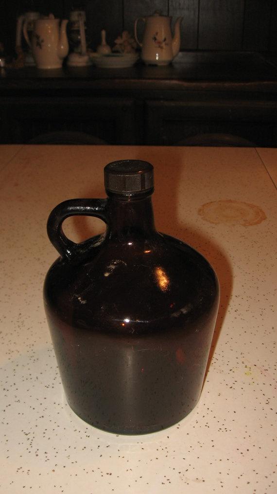 Vintage Glass Moonshine Bottle by asidewalkfinding on Etsy, .75