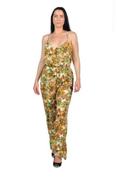 Womens Fashion Neck Strap Jumpstuit Green