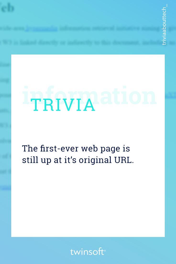 Η πρώτη web σελίδα που κατασκευάστηκε ποτέ παραμένει «ανεβασμένη» στο ίδιο URL: http://info.cern.ch/hypertext/WWW/TheProject.html  #twinsoft #internet #trivia