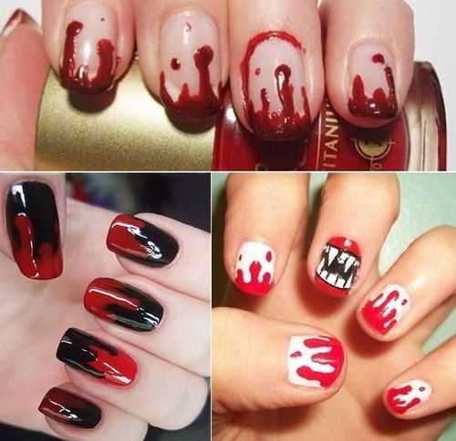 Bloody nail designs #Halloween - 72 Best Emo Nail Ideas Images On Pinterest Halloween Makeup