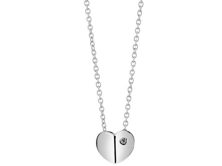 Naszyjnik srebrny z cyrkonią | Apart