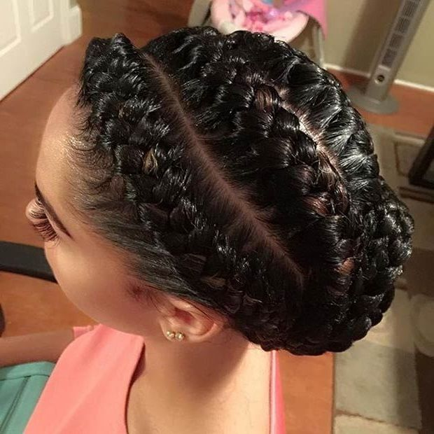 35 Goddess Braids With Weave Hairstyles In 2019 Goddess Braids