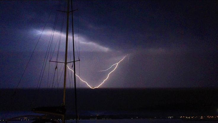Thunderstorm in the middle of summer.