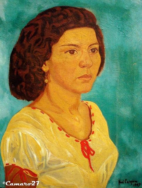 """Noé Canjura, """"Retrato de Judith Osegueda"""" (1947) MARTE Museo de Arte de El Salvador by CAMARO27, via Flickr"""