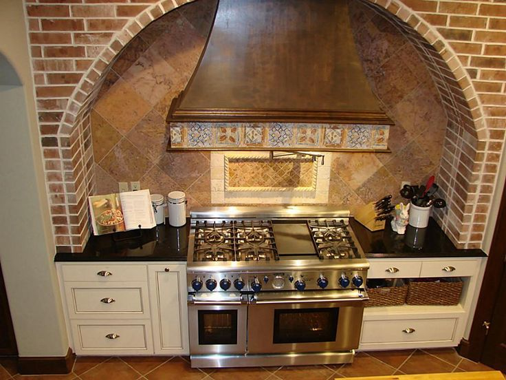 Decorative Range Hoods For Gas Stoves ~ This custom beautiful and ornate vent hood functional