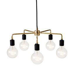 LEONARD - Lustre Laiton 5 lumières Ø46cm | Suspension Menu designé par Søren Rose Studio MENU