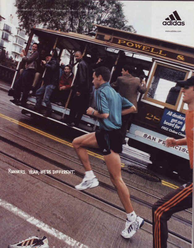Adidas running advert.