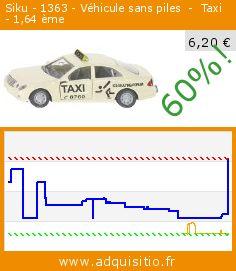 Siku - 1363 - Véhicule sans piles  -  Taxi   - 1,64 ème (Jouet). Réduction de 60%! Prix actuel 6,20 €, l'ancien prix était de 15,49 €. http://www.adquisitio.fr/siku/1363-v%C3%A9hicule-piles-taxi