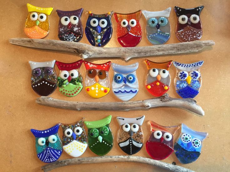 owls, not sure what they're made of,but sure are cute