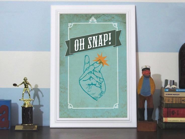 Oh Snap! 12x18 Art Print: Inspiration, Favorite Places, Earmark Social, 12X18 Art, Gicl Art, 12X18 Gicl, Snap 12X18, Art Prints, Etsy Crushes
