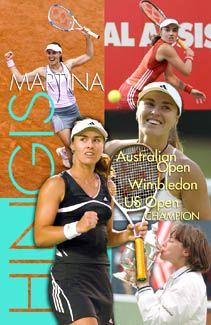 Martina Hingis CHAMPION Tennis Action Poster - WTA Womens Tennis - TL Posters