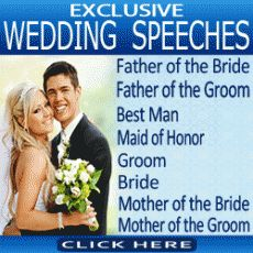 Learn how to make your wedding moment special by using our examples and tips....Visit http://www.sampleweddingspeeches.net