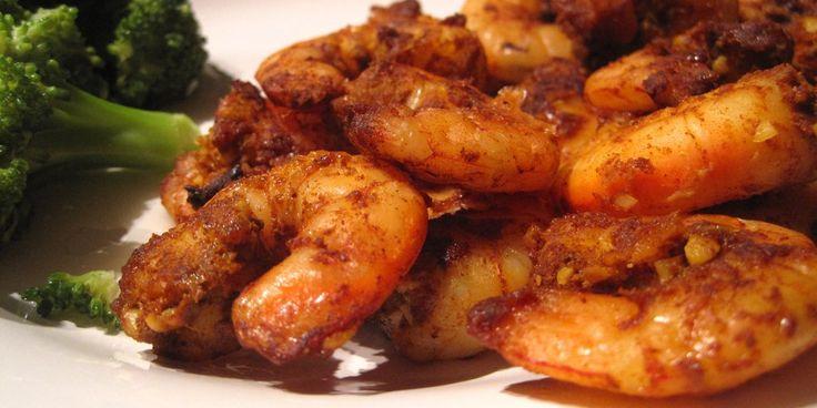 Τηγανητές γαρίδες με κύμινο και τσίλι